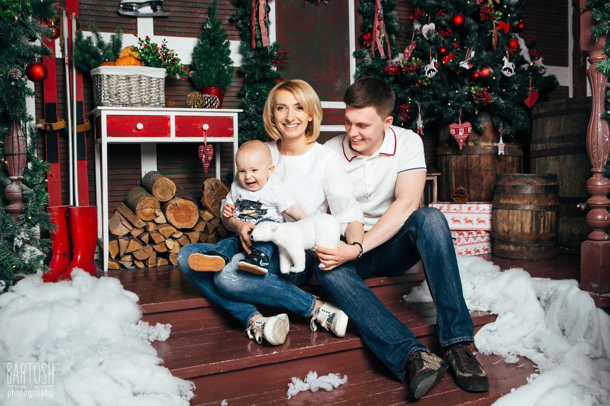 Новогодние фотопроекты. Семейная фотосъемка на Новый Год в Киеве