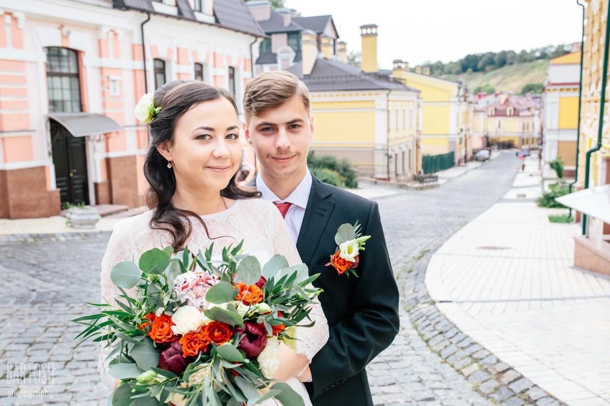Свадебные фотографии Катерины и Алексея в Киеве. Фотограф на свадьбу