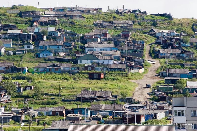Бараки - первые поселения на берегу Нагаевской бухты, Магадан