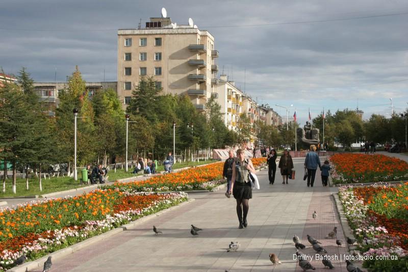 Центр города Магадан. Фотограф Дмитрий Бартош
